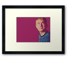 A Study in Pink Framed Print