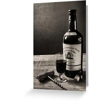 A Bottle of Port Greeting Card
