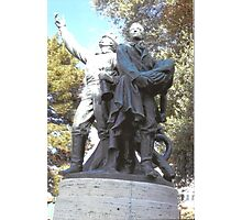 FireFighter's Statue In North Beach,S.F Photographic Print