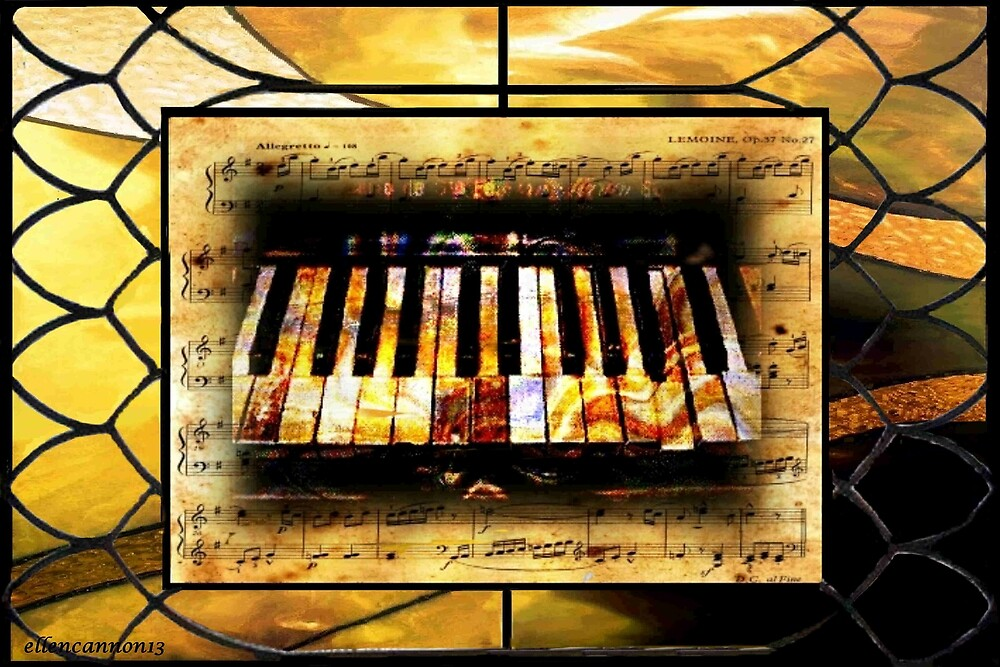 Stained Glass Template: Antique Ivories by ecannon11