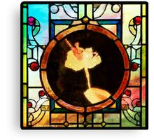 Stained Glass Template: Fingertip Ballerina Canvas Print