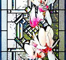 Stained Glass Template: Magnolia Branch by ecannon11
