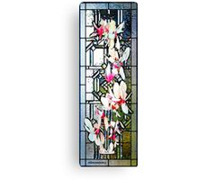 Stained Glass Template: Magnolia Branch Canvas Print