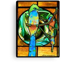 Stained Glass Template: Bright Dignity Canvas Print