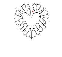 Paperman Heart Photographic Print