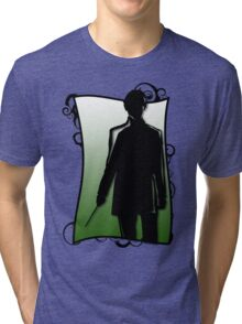 A Slytherin Silhouette Tri-blend T-Shirt