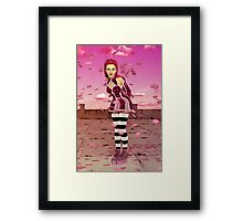 Pink Sakura - Anime Girl Framed Print