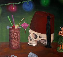 Skull with Fez 2 by Tiki King