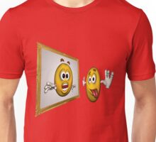Cute Smiley Face In Mirror Unisex T-Shirt