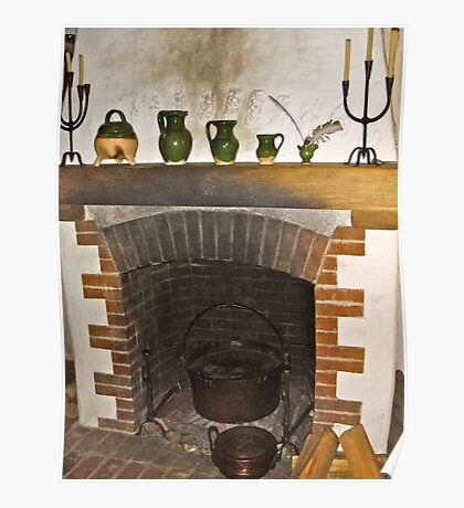 Pioneer Fire Place Poster