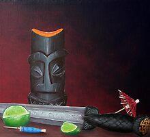 Tiki Mug with Scottish Dirk by Tiki King