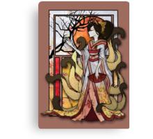 Kitsune of Sunset Canvas Print