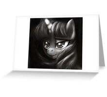 Twilight Sparkle grayscale study Greeting Card