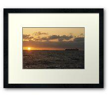 Sun, Sea and Ship Framed Print