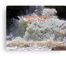 Banner Challenge Winner - Water Falls Canvas Print