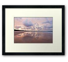Mirror on Main Beach Framed Print