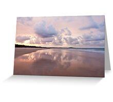 Mirror on Main Beach Greeting Card