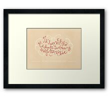 To Dwell On Dreams Framed Print