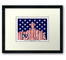 Lincoln with Old Glory Framed Print