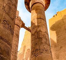 Columns of Karnak Temple - Egypt by Mark Tisdale