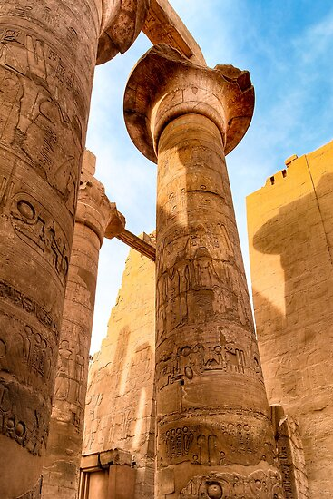 Columns of Karnak Temple - Egypt by Mark Tisdale