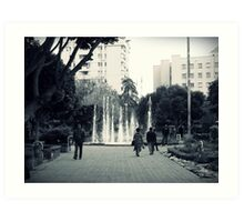 In the park. Art Print