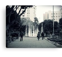 In the park. Canvas Print