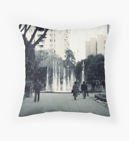 In the park. Throw Pillow