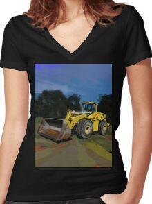 New Holland LW230B Wheel Loader Women's Fitted V-Neck T-Shirt