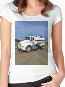 Kenworth T300 Water Truck Women's Fitted Scoop T-Shirt