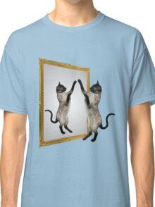 Cute Siamese Cat In Mirror Classic T-Shirt