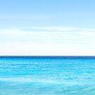 Horizon on the blue Mediterranean sea by gianliguori