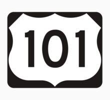 U.S. Route 101 Sign, USA - Regular Version One Piece - Short Sleeve