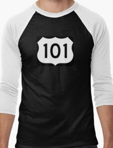 U.S. Route 101 Sign, USA - Regular Version Men's Baseball ¾ T-Shirt