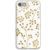 Gold floral pattern iPhone Case/Skin
