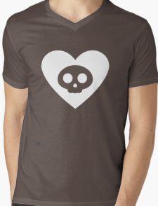 Badd Heart (Large) Mens V-Neck T-Shirt