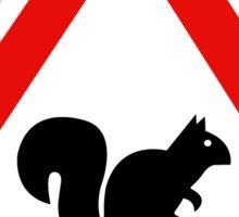 Squirrels Crossing, Traffic Sign, Spain Sticker