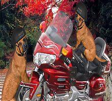 MOTOR CYCLE  & DOGS IPAD CASE CRUSIN by ✿✿ Bonita ✿✿ ђєℓℓσ