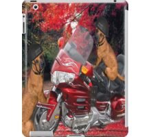 MOTOR CYCLE  & DOGS IPAD CASE CRUSIN iPad Case/Skin