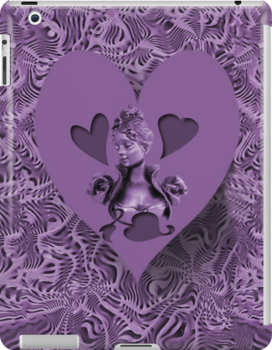 PURPLE HEART EXPRESSIONS IPAD CASE by ✿✿ Bonita ✿✿ ђєℓℓσ