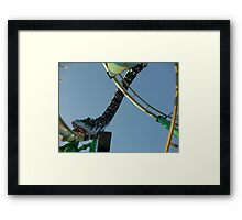 Roller Coaster Loop (Desert Storm) Framed Print