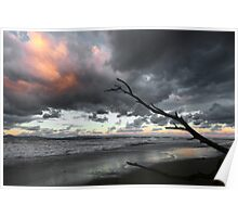 Kremasti beach windy, Rhodes Island Greece Poster