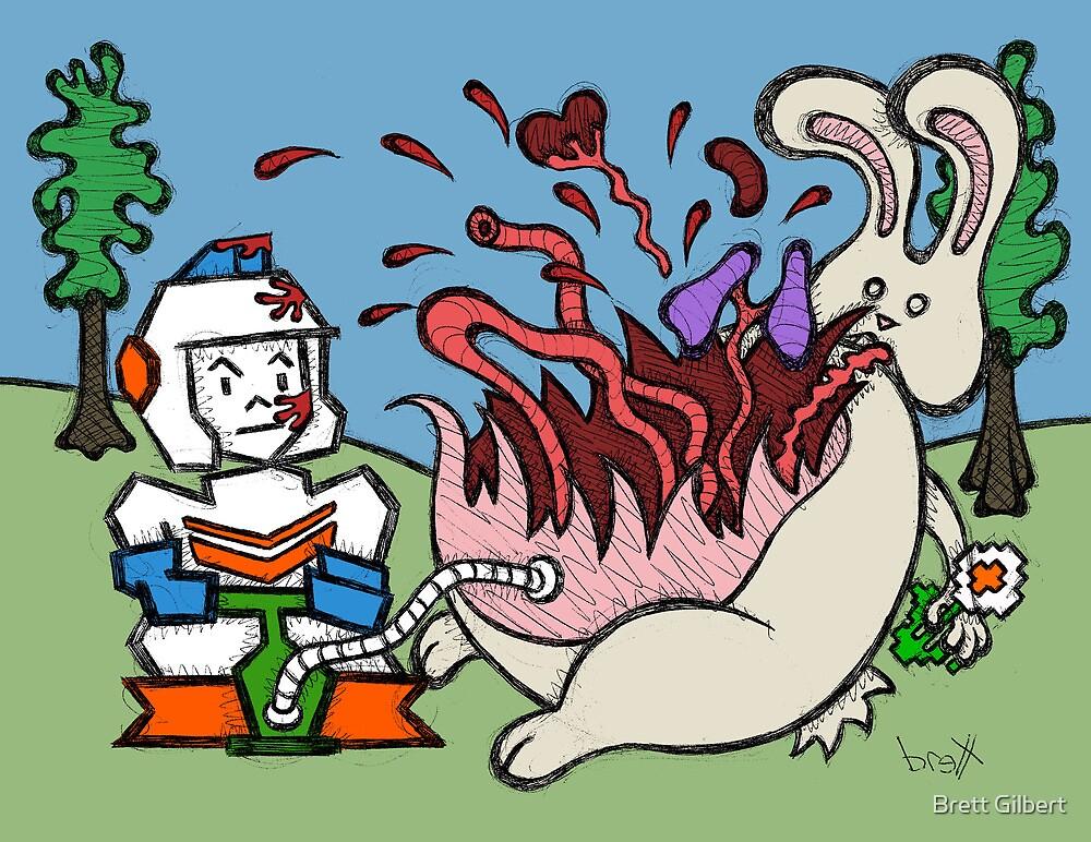 Teddy Bear And Bunny - Pop by Brett Gilbert