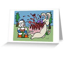 Teddy Bear And Bunny - Pop Greeting Card