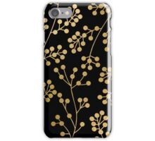 Gold and black floral patern iPhone Case/Skin