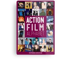 Action Film Alphabet Metal Print