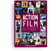 Action Film Alphabet Canvas Print
