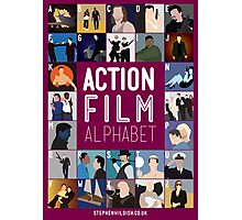 Action Film Alphabet Photographic Print