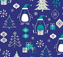 Cute Christmas Penguins Pattern by sale