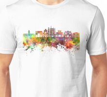 Parma skyline in watercolor background Unisex T-Shirt